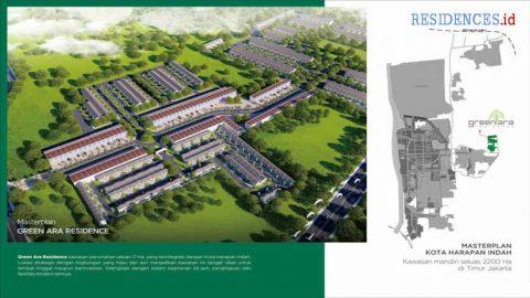 masterplan-green-ara-residence-kota-harapan-indah-bekasi